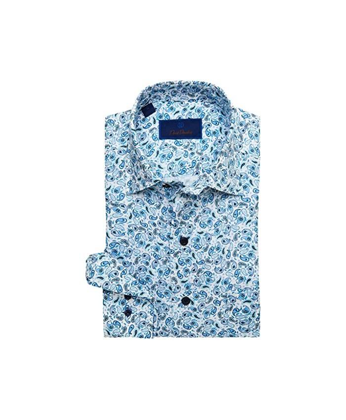 David Donahue Paisley Linen Sport Shirt