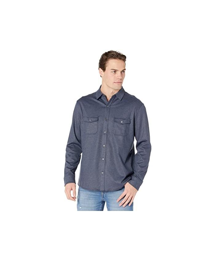 Johnston & Murphy Button Front Knit Shirt