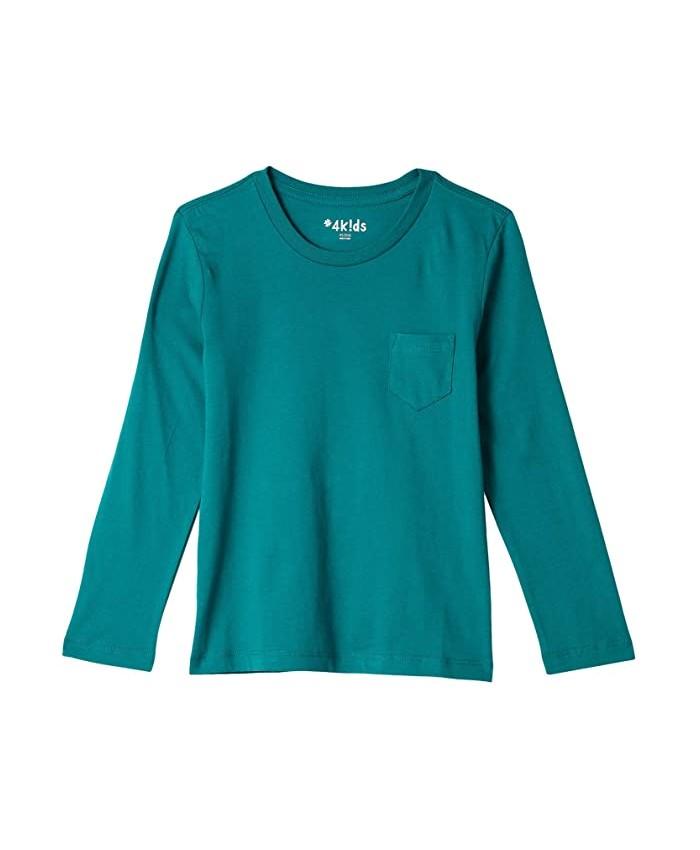 #4kids Essential Pocket Long Sleeve T-Shirt (Little Kids\u002FBig Kids)