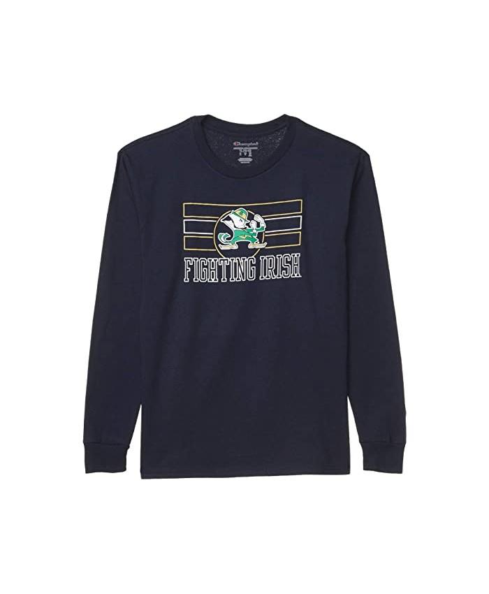 Champion College Kids Notre Dame Fighting Irish Long Sleeve Jersey Tee (Big Kids)