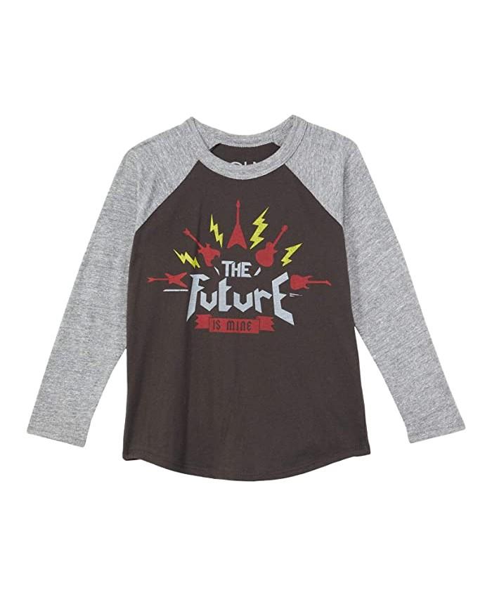 Chaser Kids Recycled Vintage Jersey w\u002F Tri-Blend Long Sleeve Raglan Blocked (Toddler\u002FLittle Kids)