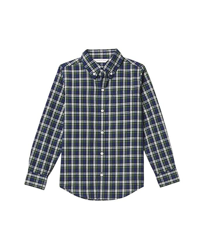 Janie and Jack Plaid Button-Up Shirt (Toddler\u002FLittle Kids\u002FBig Kids)
