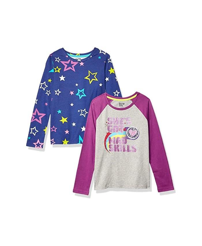 Spotted Zebra Long Sleeve T-Shirts 2-Pack (Little Kids\u002FBig Kids)