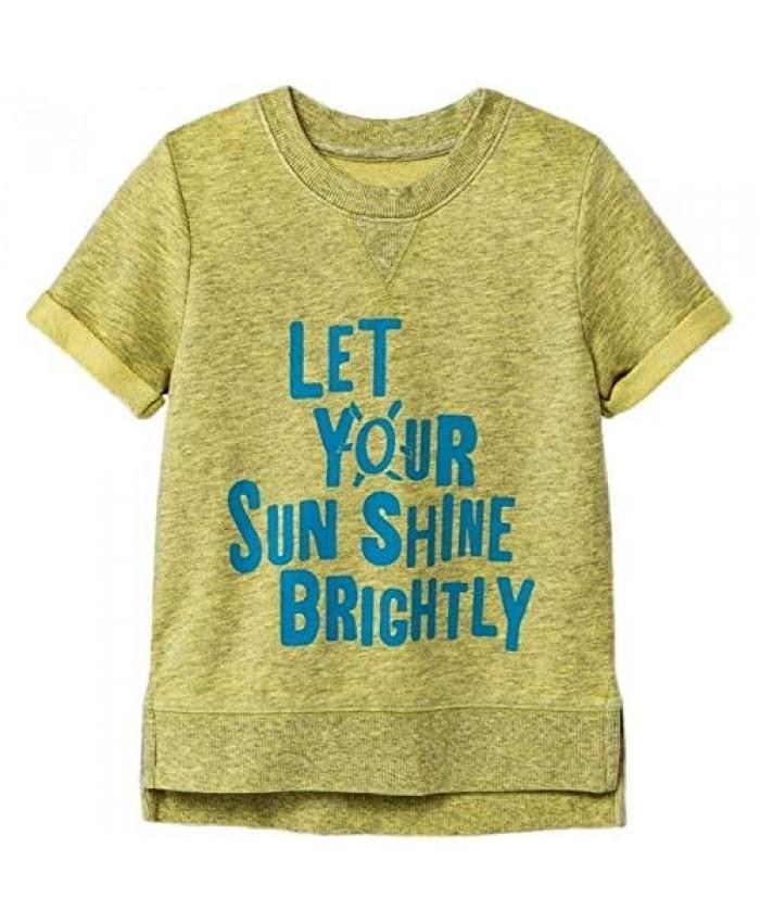 Cat & Jack Toddler Boys Let your Sun Shine Brightly Short Sleeve Sweatshirt