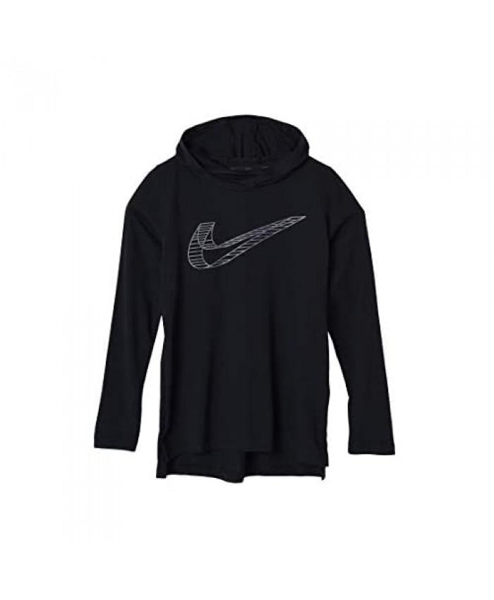 Nike Kids Boy's Breathe Hooded Long Sleeve Top (Big Kids) Black/Gunsmoke/Heather/Black Size Youth Small